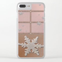 Sandal Eunry Snow Crystals Clear iPhone Case