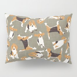 beagle scatter stone Pillow Sham