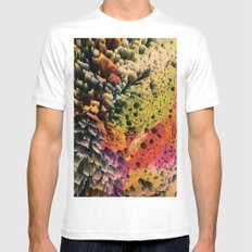 AQUART / PATTERN SERIES 007 MEDIUM White Mens Fitted Tee