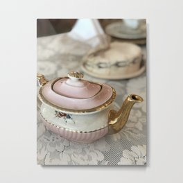 The Pink Teapot Metal Print