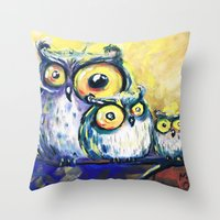 family Throw Pillows featuring family by Katja Main