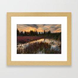 Autumn Dolly Sods Sunset Framed Art Print