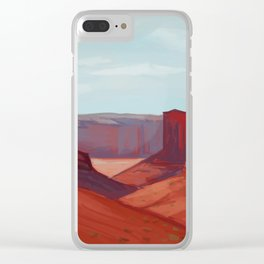 Red Landscape Clear iPhone Case