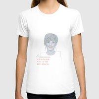 jennifer lawrence T-shirts featuring Illustration Jennifer Lawrence 'Fries' by Katie Munro
