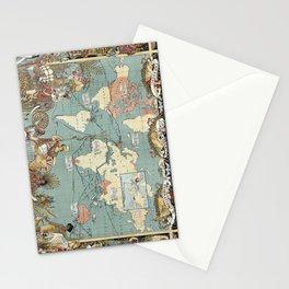 Vintage British Empire World Map (1886) Stationery Cards
