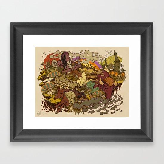 Smoke to ONEness Framed Art Print