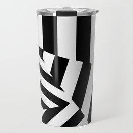 RADAR/ASDIC Black and White Graphic Dazzle Camouflage Travel Mug