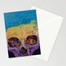 Grunge Skull Stationery Cards