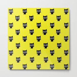House Full Of Cats - pattern Metal Print