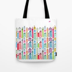 Houses and Birds Tote Bag