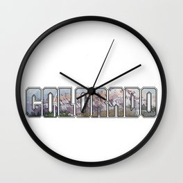 Colorado Wind Wall Clock