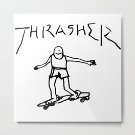 Thrasher Skateboard Metal Print