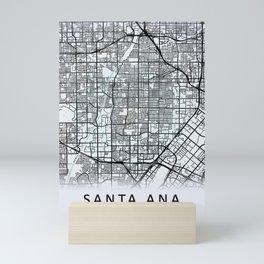Santa Ana, CA, USA, White, City, Map Mini Art Print
