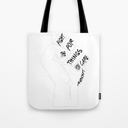 RBG Ruth Bader Ginsburg Fight For The Things You Care About T-Shirt Tote Bag