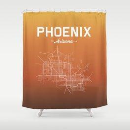 Phoenix, Arizona - color Shower Curtain