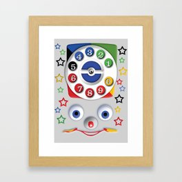 Classic Retro vintage Smiley Toys Dial Phone Framed Art Print