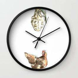 Blow Cock Wall Clock