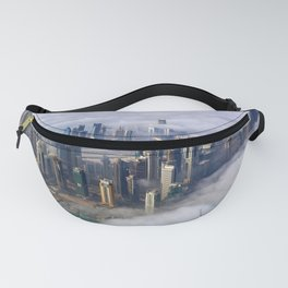 Doha Quatar Cityscape From Above The Clouds Ultra HD Fanny Pack