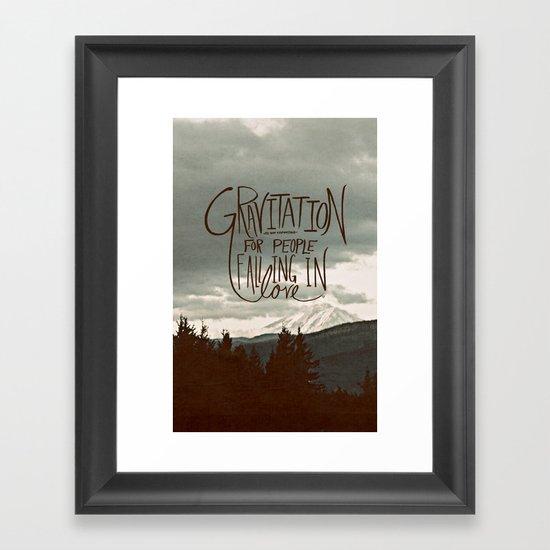 Gravitation Framed Art Print
