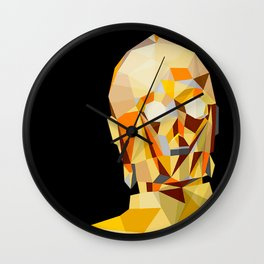 LowPolyC3PO Wall Clock