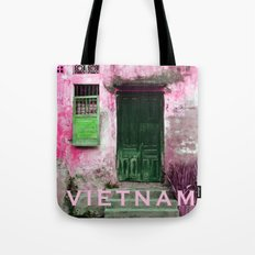 ANTIQUE CHINESE WALL of HOI AN in VIETNAM Tote Bag