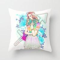 sagittarius Throw Pillows featuring Sagittarius by Sara Eshak