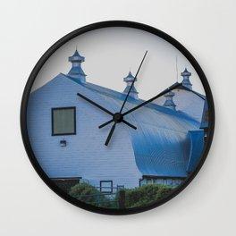 Creamers Dairy and Barn, Fairbanks Alaska Wall Clock