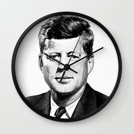President John F. Kennedy Graphic Wall Clock