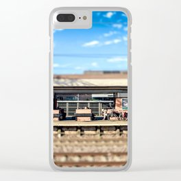 Miniature People at the Station Clear iPhone Case