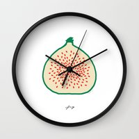 fig Wall Clocks featuring FIG by Lara Trimming
