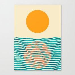 Ocean current Canvas Print