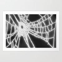 Surrealistic Spider Web Art Print