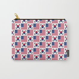 Mix of flag : USA and South Korea Carry-All Pouch