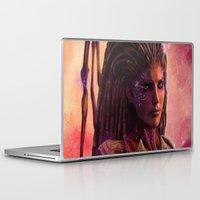 starcraft Laptop & iPad Skins featuring Sarah Kerrigan  by p1xer
