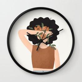Dara Flowers Wall Clock
