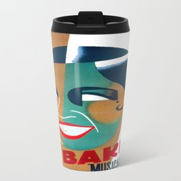 Josephine Baker Vintage Poster for Stockholm Travel Mug