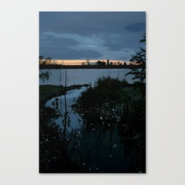 Blue Sunset over the Bay Canvas Print