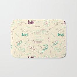 Doodlethrob (Tegan and Sara) creme Bath Mat