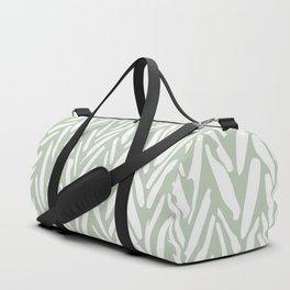 Light green herringbone pattern with cream stripes Duffle Bag