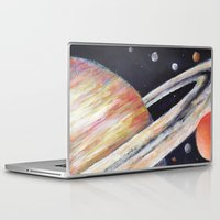 saturn Laptop & iPad Skins featuring Saturn by Quinn Shipton