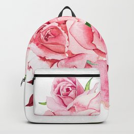 Flower bouquet with roses watercolor Backpack