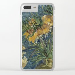 Crown Imperials in a Copper Vase Clear iPhone Case