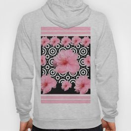 Art Deco Style Pink & Black Floral Hoody