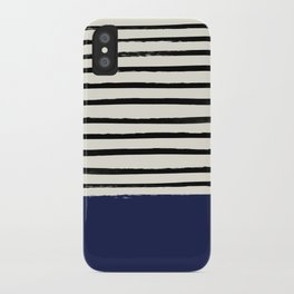 Navy x Stripes iPhone Case