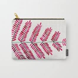 Pink Leaflets Carry-All Pouch