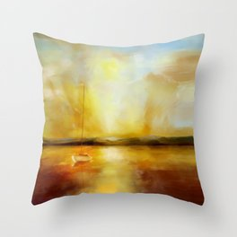 Anchored for the night Throw Pillow