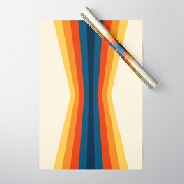 Bright 70's Retro Stripes Reflection Wrapping Paper