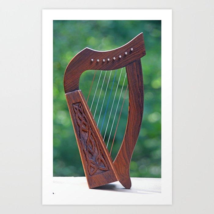 Buy A Harp >> Harp In The Sun Art Print By Richardbryce