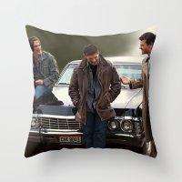 supernatural Throw Pillows featuring Supernatural by Artechniq