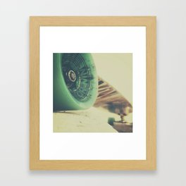 Skate or Die || Curb Stop Framed Art Print